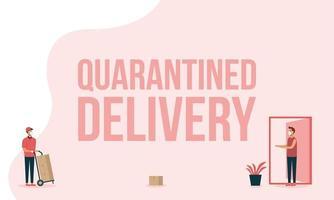 leveransman med masklådor och klientvektordesign
