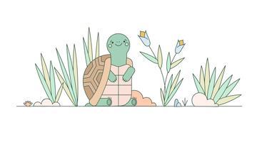 Schildkröte-Vektor vektor