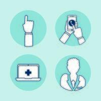Smartphone und Laptop mit Telemedizin-Technologie