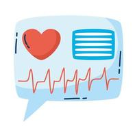 medicinsk hjärtkardiologi i pratbubblan