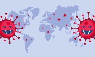 covid19 Pandemieteilchen und Erdplanet