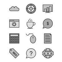Icon Set der Suchmaschinenoptimierung für den persönlichen und kommerziellen Gebrauch ...