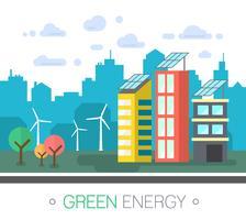 Grüne Energie der Stadt vektor