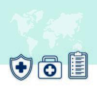 Bündel von medizinischen Set-Symbolen