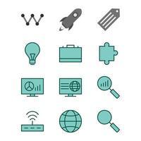 ikonuppsättning för sökmotoroptimering för personligt och kommersiellt bruk ...