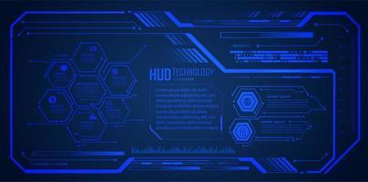 framtid och teknik blå hologram bakgrund vektor