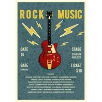 Rock-Musik-Konzert-Plakat-Vektor