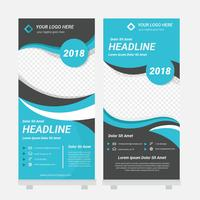 Standee Design Mall Vector