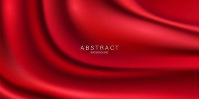 röd gardin bakgrund. storslagen öppningsevenemangsdesign. vektor