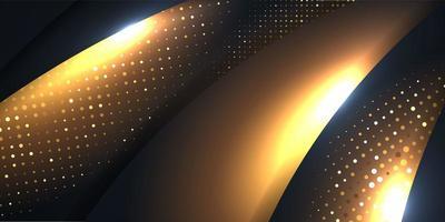 abstrakter schwarzer Glitzergoldvektorhintergrund vektor