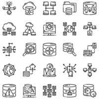 Big Data Outline Icon Set Vol1