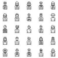 avatarer disposition ikonuppsättning vol2