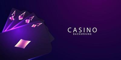 Kartenspielen. Gewinner Poker Hand Design vektor