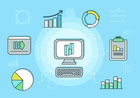 Datavisualisering Bakgrunds illustration