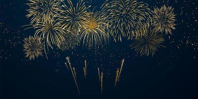 Feuerwerk und Weihnachten themenorientiertes Festdesign vektor