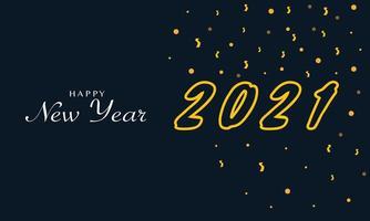 nytt år 2021 bakgrundsvektor