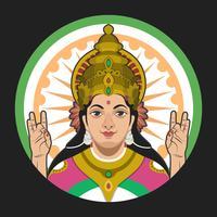 Saraswathi-Porträt-Vektor-Illustration