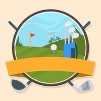 Weinlese-Abzeichen-Golf-Vektor vektor