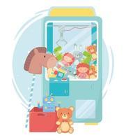 Kinderspielzeug Objekt amüsant Cartoon Teddy Picker Maschine Pferd Roboter und Box