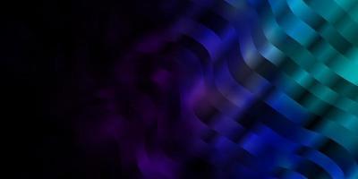 mörkrosa, blå vektorbakgrund med böjda linjer.