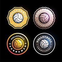 Volleyball kreisförmige Vektor-Logo gesetzt vektor