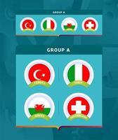 fotboll 2020 turnering sista etapp grupp a vektor