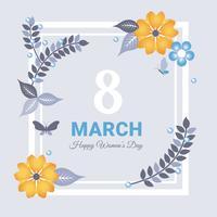 8. März Grußkarte Vektor