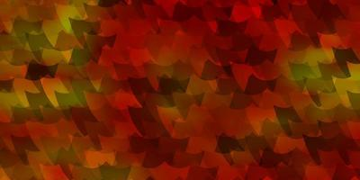 ljus orange vektor mönster i fyrkantig stil.