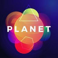 abstrakter Hintergrund der Weltraumplaneten vektor