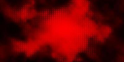 mörk orange vektor bakgrund med bubblor.