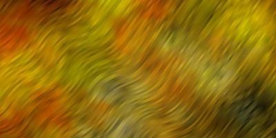 ljus orange vektor layout med kurvor.