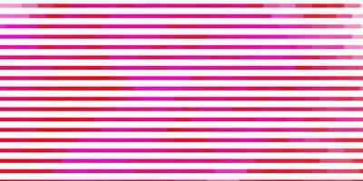 ljusrosa vektormönster med linjer. vektor