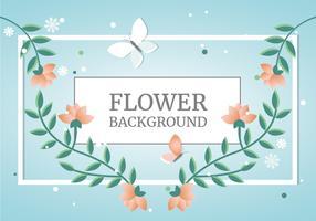 Flaches Design-Vektor-Frühlings-Gruß-Karten-Design