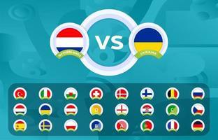 Fußball 2020 Sport vs versus Vorlagen gesetzt vektor