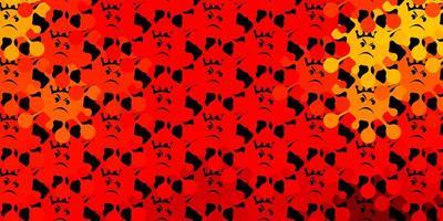 mörk orange vektor mönster med coronavirus element