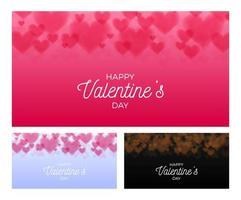 Herz Valentinstag Bokeh gesetzt