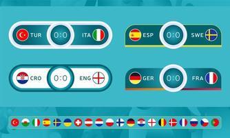 Fußball 2020 Sport Anzeigetafeln Vorlagen vektor