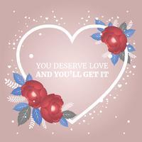 Postkarte zur Valentinstag-Vektor-Illustration vektor