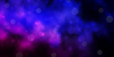 mörkrosa, blå vektorbakgrund med prickar.