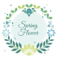 Flache Design-Vektor-Frühlings-Gruß-Karte vektor