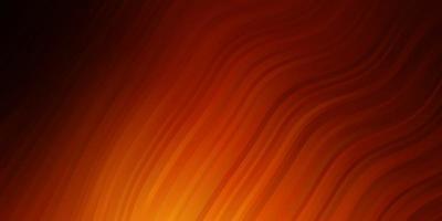 mörk orange vektor bakgrund med kurvor.