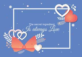 Postkarte zur Valentinstag-Vektor-Illustration