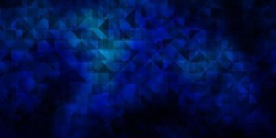 mörkblå vektorbakgrund med trianglar.