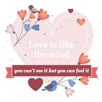 Valentinstag Hintergrund Vektor-Illustration vektor