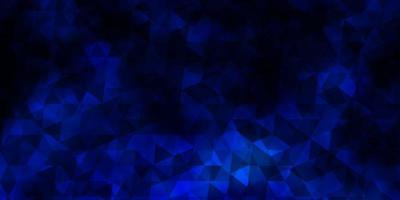 mörkblå vektorbakgrund med trianglar. vektor