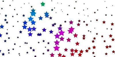 dunkelrosa, grünes Vektorlayout mit hellen Sternen.