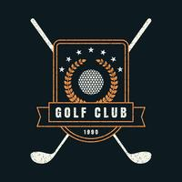 golfklubb retro badge