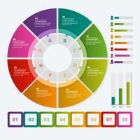 Vektor bunte Infografiken