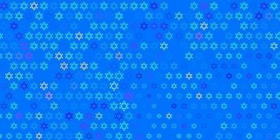 ljusrosa, blå vektorbakgrund med covid-19 symboler.