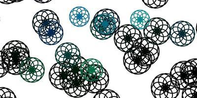 hellblauer, grüner Vektorhintergrund mit Punkten. vektor
